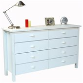 Venture Horizon Nouvelle White 8-Drawer Lowboy
