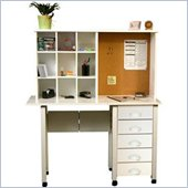 Venture Horizon White Computer Desk Hutch