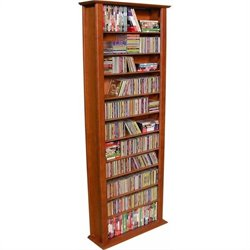 Venture Horizon 76-Inch Tall CD DVD Wall Rack Media Storage, Available in Multiple Finishes