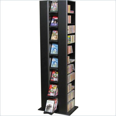 Venture Horizon Twin Media Towers Storage, Available in Oak or Black