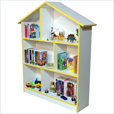 Venture Horizon Kids Dollhouse Bookcase in White