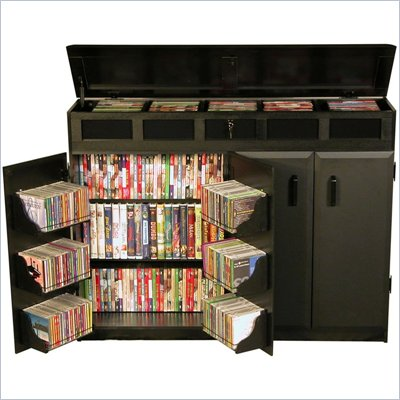 Venture Horizon Top Load CD DVD Media Storage Cabinet