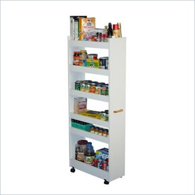 Venture Horizon White Thin-Man Pantry Cabinet