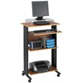Safco MV Standing Wood Workstation in Cherry