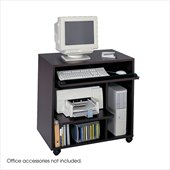 Safco Ready-to-Use Wood Computer Workstation in Mahogany