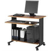 Safco MV 35 Fixed Height Wood Workstation in Cherry