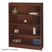 Safco WorkSpace 48H Four Shelf Square-Edge Bookcase in Mahogany