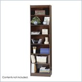 Safco WorkSpace Seven Shelf 24W x 84H Baby Bookcase in Mahogany