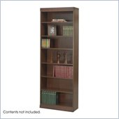 Safco WorkSpace 7 Shelf 30 W x 84 H Baby Bookcase in Walnut