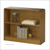Safco WorkSpace Two Shelf Radius Edge Bookcase in Medium Oak