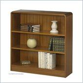 Safco WorkSpace Three Shelf Radius Edge Bookcase in Medium Wood