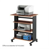 Safco MV 4 Level Adjustable Printer Stand in Cherry