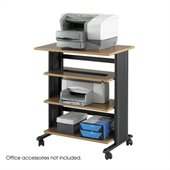 Safco MÜV 4 Level Adjustable Printer Stand in Medium Oak