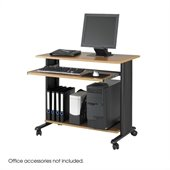 Safco MV 35 Fixed Height Wood Workstation in Medium Oak