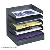 Safco Black Five Tier Steel Desk Tray