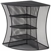 Safco Onyx Black Mesh Desk Corner Organizer