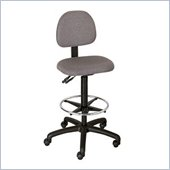 Safco Trenton Extended Height Drafting Chair in Dark Gray