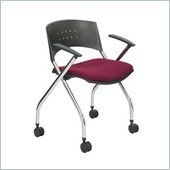 Safco Xtc. Upholstered Nesting & Folding Chair in Burgundy (Set of 2)