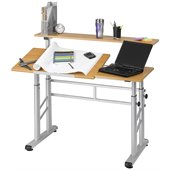Safco Height Adjustable Split Level Drafting Table