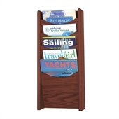 Safco 5-Pocket Wood Magazine Rack in Mahogany