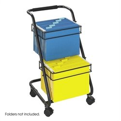 Safco Jazz 2 Tier Mobile Metal Hanging File Cart