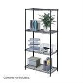 Safco 36x18 Industrial Wire Shelving in Black