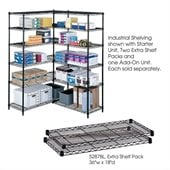 Safco 36x18 Industrial Extra Shelf Pack in Black