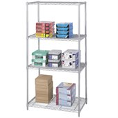 Safco 36x24 Industrial Wire Shelving in Gray