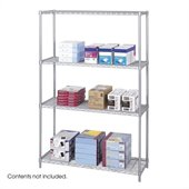 Safco 48x18 Industrial Wire Shelving in Gray