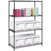 Safco 48x24 Industrial Wire Shelving in Black