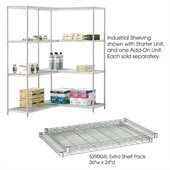 Safco 36x24 Industrial Extra Shelf Pack in Gray