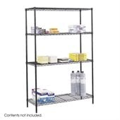 Safco 48x18 Industrial Wire Shelving in Black