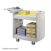 Safco 2-Shelf Molded Utility Cart