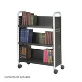 Safco Scoot Single Sided 3 Shelf Book Cart