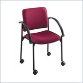 Safco Moto Mobile Stackable Chair in Burgundy (Set of 2)