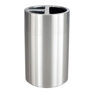 Safco 3 Section Recycling Receptacle in Stainless Steel