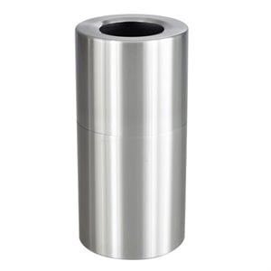 Safco Open Top Receptacle in Stainless Steel