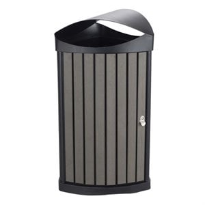Safco Nook Waste Receptacle in Charcoal