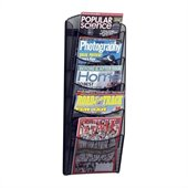 Safco 5-Pocket Black Onyx Magazine Rack