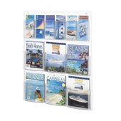 Safco Clear2c 6 Magazine and 6 Pamphlet Display