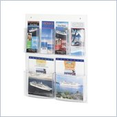 Safco Clear2c 2 Magazine and 4 Pamphlet Display