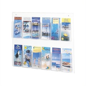 Safco Clear2c 12 Pamphlet Display