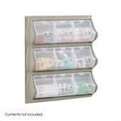 Safco Grey 9 Pocket Panel Bins