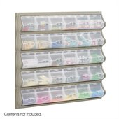 Safco Grey 30 Pocket Panel Bins