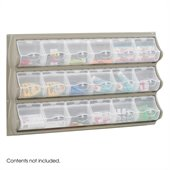 Safco Grey 18 Pocket Panel Bins