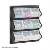 Safco Black 9 Pocket Panel Bins