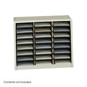 Safco Value Sorter 24 Compartment Flat Files Metal Organizer in Sand