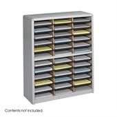 Safco 36 Compartment Value Sorter Metal Flat Files Organizer in Gray