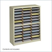 Safco Value Sorter 36 Compartment Flat Files Metal Organizer in Sand