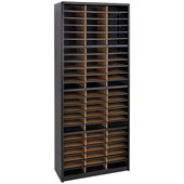 Safco Value Sorter 72 Compartments Flat Files Organizer in Black